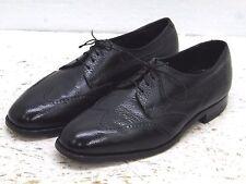 Florsheim Men's Black Pebble Leather Comfort Cushion wingtip Dress Shoe Size 8 D