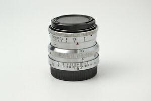 Biotar 58mm f2 Silver 17 blades M42 lens Red T S/N 3420439, SERVICED!