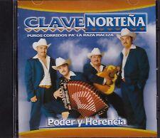 Clave Nortena Puros Corridos Pa La Raza Poder y Herida CD USED LIKE NEW