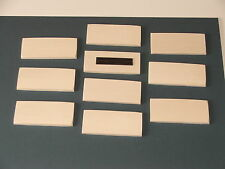 SYCAMORE HARDWOOD BLANK FRIDGE MAGNETS-90MMX40MM-10 FOR £8.25 INCL POST