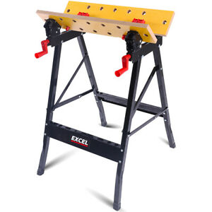 NEW Foldable Workbench Portable Work Clamping Folding Worktop Table Stand UK