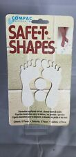 Safe-T-Shapes Decorative White Feet Safty Appliques Bath Tab Decal 12 pieces.New