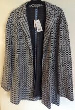 BNWT Ladies George Black & White Jacket, Size 16.