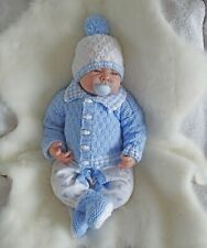 Easy dk knitting pattern instructions to knit baby boys cardigan set