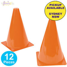 CONSTRUCTION CARS TRUCK PARTY SUPPLIES 12pk ORANGE PLASTIC TRAFFIC SAFETY CONES