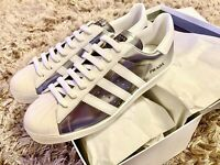 BRAND NEW MINT Adidas X PRADA Superstar Lifestyle Shoes Sneakers Silver Metallic
