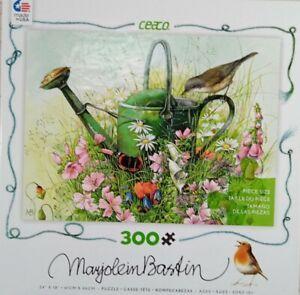"Caeco MARJOLEIN BASTIN Garden 300 pc Jigsaw Puzzle 24x18"" 2016 oversized pieces"