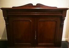 Antique Solid Victorian Mahogany Sideboard/ Buffet/ Cupboard/ Chiffonier