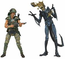 "Aliens - 7"" Scale 2-pack Corporal Hicks vs Battle Damaged Xenomorph Warrior NECA"