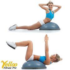PALLA PILATES Equilibrio Fisioterapia Bosu YOGA Balance Trainer Colore GRIGIO