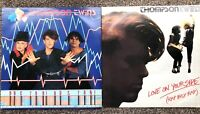 "THOMPSON TWINS DOCTOR DOCTOR LOVE ON YOUR SIDE 2 12"" SINGLE VINYL RECORDS TESTED"