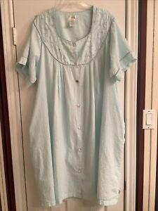 Secret Treasures Woman House Dress Mu Mu Green Plus size 2X
