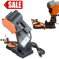 NEW ELECTRIC GRINDER CHAIN SAW BENCH SHARPENER VISE MOUNT W/GRIND CHAINSAW WHEEL
