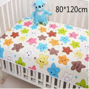 Baby Infant Cotton Washable Diaper Nappy Urine Mat Waterproof Changing Pad Cover