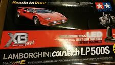 1/10 Tamiya RC Countach'80s Lamborghini LED TT-01E XB 4wd RTR Model 57780 Drift