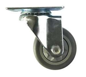 """4"""" Inch Caster Wheel 198 pounds Swivel Thermoplastic Rubber Top Plate"""