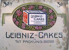 Originalwerbung Reklame Leibniz-Cakes in TET Packung 1909