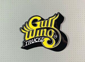 "Gullwing Trucks Skateboard Sticker 4"" Yellow sk8"