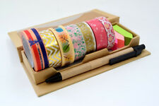 New 7rolls x 15mm Japanese Washi Craft Tape Pink Gold Lace Floral Mix @ AU1.70ea