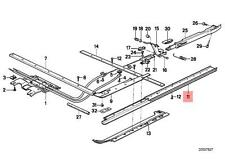 Genuine BMW E24 Coupe Sunroof Guide Rail Right OEM 54121909758