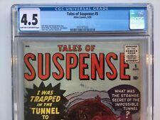 Atlas Marvel 1959 Tales of Suspense 5 CGC 4.5 Tan to OW Kirby Stan Lee Ditko