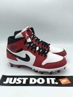 Nike Air Jordan 1 TD Mid Football Cleats Chicago Red White Size 9.5 AR5604-106