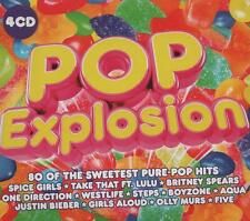 POP EXPLOSION - JUSTIN BIEBER ONE DIRECTION STEPS SPICE GIRLS - 4 CDS - NEW!!