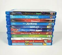 Disney Pixar Bluray lot of 11 Movies DVD Toy Story 2 Moana Cars Pooh NO DIGITAL