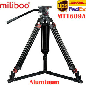miliboo MTT609A Professional Heavy Duty Hydraulic Head Ball Tripod 15KG playload