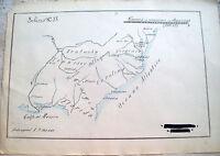 1860 RARA CARTA GEOGRAFICA DELLA GUERRA DI SECESSIONE AMERICANA
