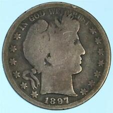 Key Date/Mint 1897-S Barber Half Dollar US 90% Silver Coin Lot H970