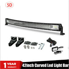 "42""INCH CURVED TRI-ROW LED LIGHT BAR COMBO TRUCK OFFROAD 4WD TRUCK ATV UTV  40"""
