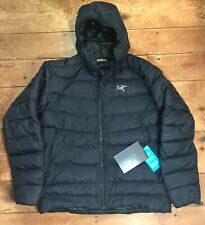 NWT 2019 NEW ARC'TERYX Thorium AR Hoody Black 750 Fill Down Puffer Jacket Coat L