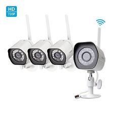 Zmodo Smart Wireless Security Cameras- 4 Pack- HD Indoor/Outdoor WiFi IP Came...