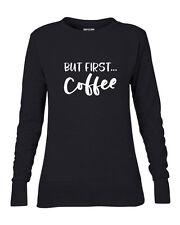 But First Coffee Women's Sweater Sweatshirt,Lightweight Jumper, M/L/XL/XXL