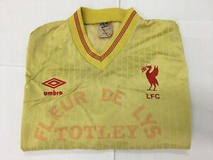 "Vintage UMBRO  LFC ""FLEUR DE LYS TOTLEY"" Player No.13 On Yellow Jersey Size M"