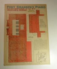 VINTAGE FOXY GRANDPA PIANO NEW YORK NY AMERICANA JOURNAL PAPER DOLL 1903 UNCUT
