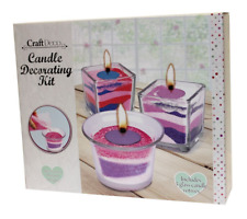 Candle Making Decorating Kit DIY Art Craft Sand Tealight Glass Votive Set 152819