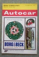 Autocar (29 Nov 1963) Humber Hawk Mark III, Innocenti IM3, Brabham, Peugeot 203