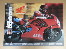 "Orignal Vintage 1990's Ben Bostrom Honda Red Riders Race Racing Poster 19"" x26"""