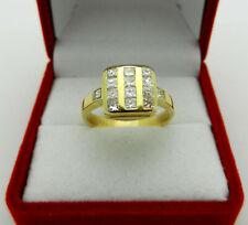 Solid 18k Yellow Gold Princess Cut 0.92 tcw Natural Diamonds Ring size 7