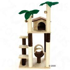 Coco Palm STABLE Cat Tree Plush Sisal Covered Posts SCRATCHING Play Toy Activity