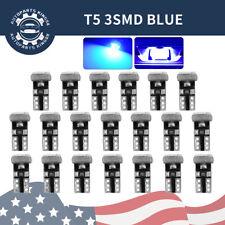 20X 8000K Blue T5 3SMD Dashboard Gauge Led Interior Instrument Panel Light Bulbs