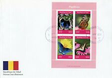 Chad 2019 FDC Butterflies Monarch Butterfly 4v MS Cover Papillons Insects Stamps