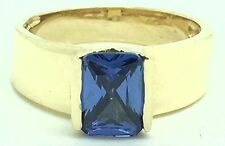 DEEP TONE TANZANITE 2.80 Carats RING 14K YELLOW GOLD *Free Shipping & Re-sizing*