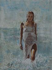 Contemporary Art/ Original Painting by American Artist Samuel Johnson /Figure