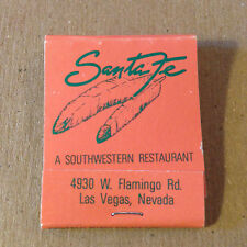 MATCHBOOK - SANTA FE A SOUTHWEST RESTAURANT - Las Vegas, NV - Unused   (1912)