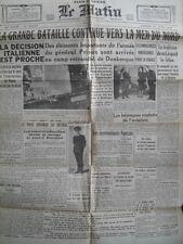 Le Matin Paris 01. Juni 1940  - Westfeldzug kurz vor der Kapitulation