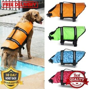 Dog Life Jacket Rescue Safety Clothes Vest Swimming Suit Float Reflective Stripe