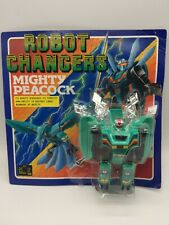 Vintage Robot Changers Mighty Peacock Animal Bird Transformer Toy 1980's Japan